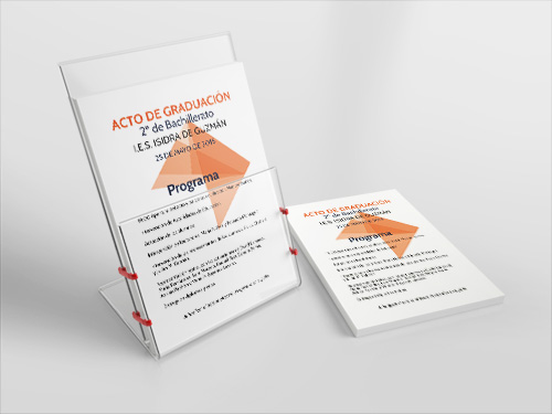 Diseño gráfico de programa de actividades del evento