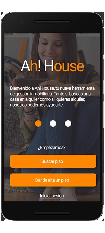 Diseño de app del sector inmobiliario. Onboarding