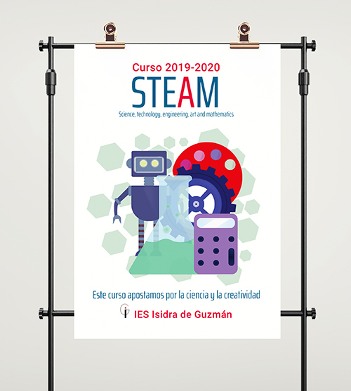 Cartel publicitario del proyecto STEAM