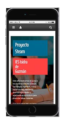 Versión móvil proyecto STEAM