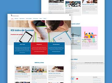 Diseño website centro educativo