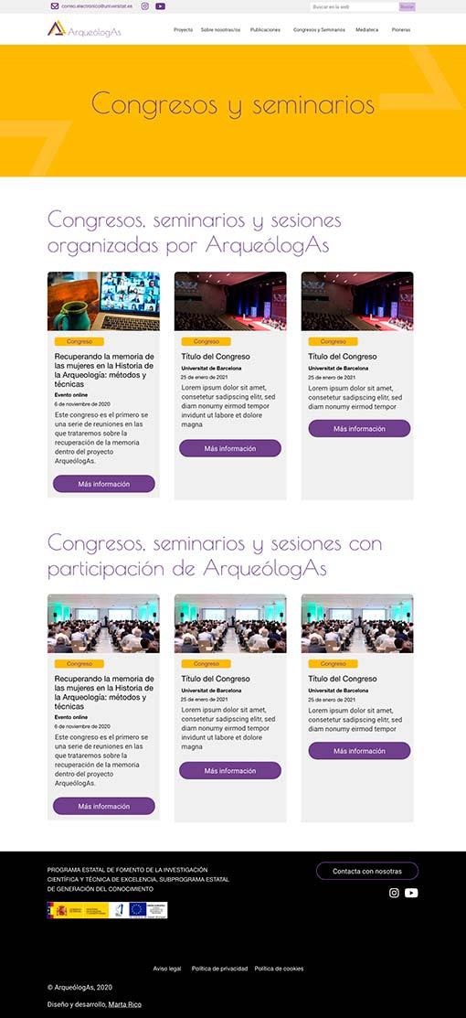Diseño página de Congresos