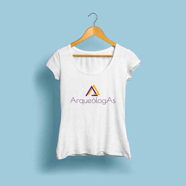 Camiseta ArqueólogAs - identidad visual proyecto universitario