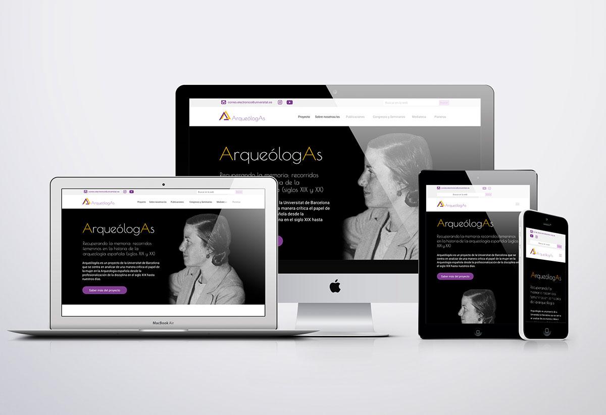 Aplicaciones web - identidad visual ArqueólogAs
