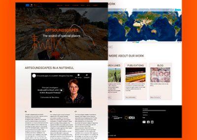 Diseño página web de arqueología