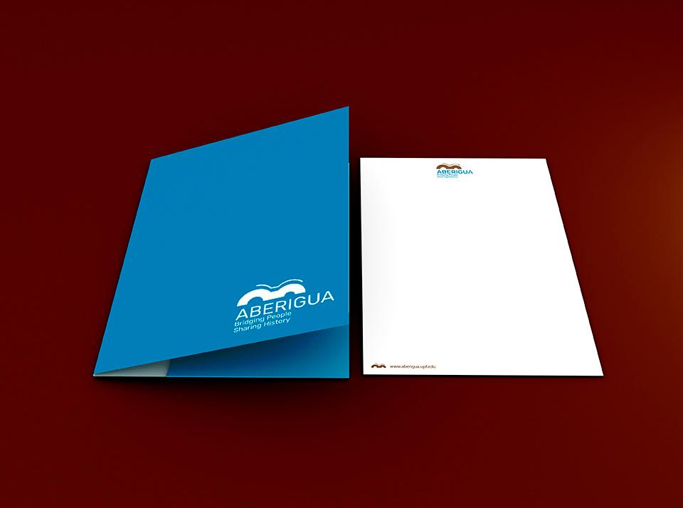 Logo Aberigua aplicación carpeta y papel de oficina